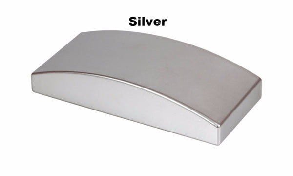 Pelmet End Caps, Silver