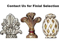 Selection of Finials for 60mm Clip On Curtain Rods