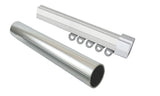 Double 32mm Stainless Rod & Curtain Rail Combo