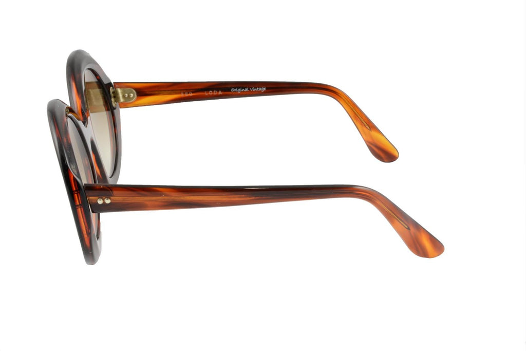 360 Dark Crystal Brown Striped - Original Vintage Sunglasses (OV17072)