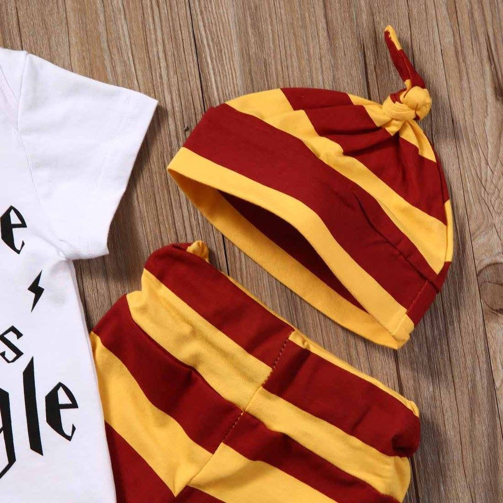 """Snuggle this Muggle"" Harry Potter Inspired Baby Outfit [3 Piece]"