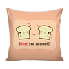 'I loaf you so much' Love Quotes Pillow Cover with Pillow Insert