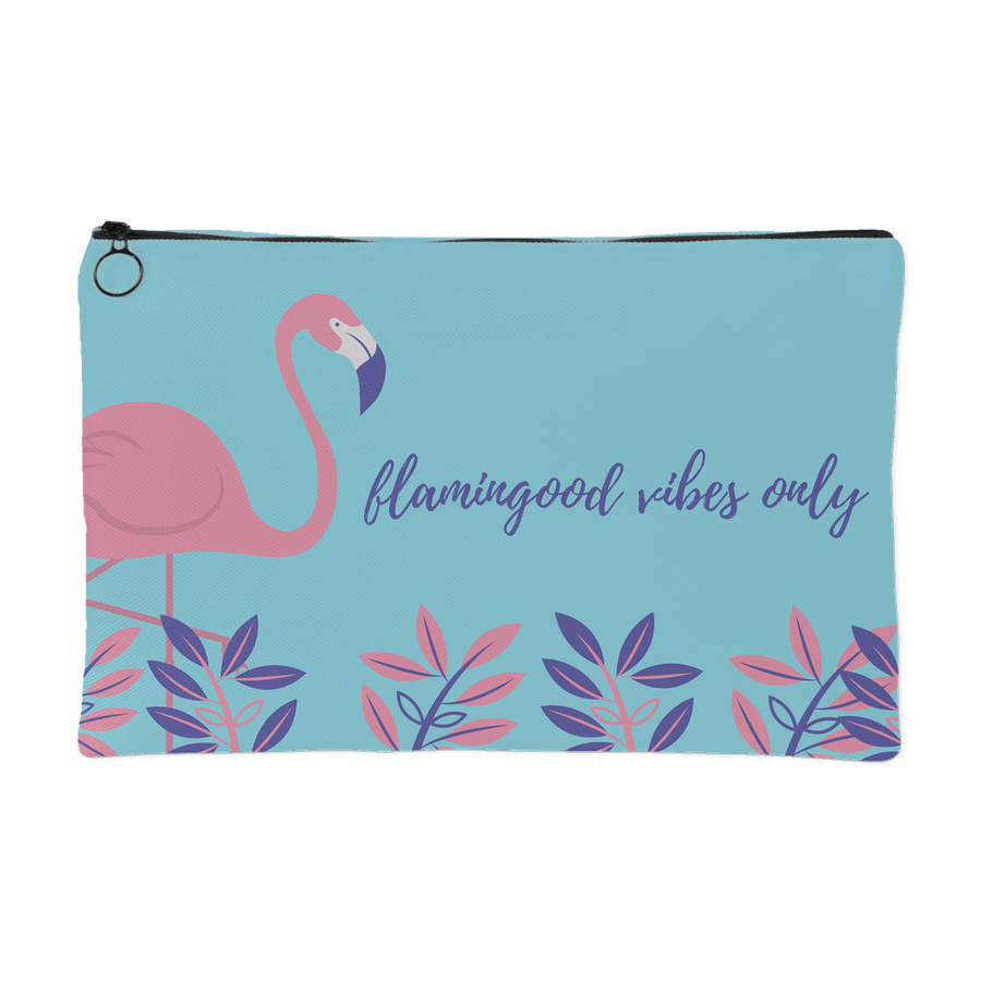 'Flamingoodvibes only' Inspiring Quote Pouch