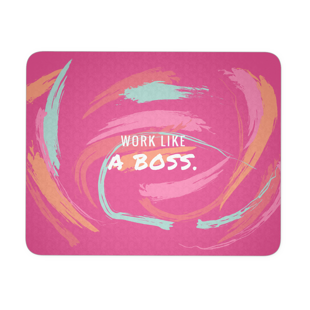 'Work like a boss' Inspirational Quote Mousepad