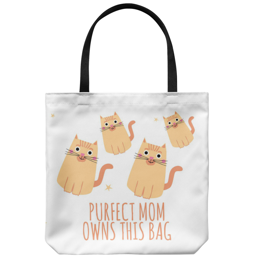'Purfect Mom' Mother Quotes Tote Bag
