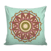 'Wisdom' Buddhist Mandala Blue Pillow