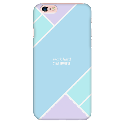 'Work hard, stay humble' Inspirational Good Morning Quotes iPhone Case