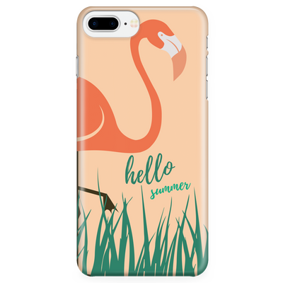 'Hello Summer Flamingo' Summer Quotes iPhone Case