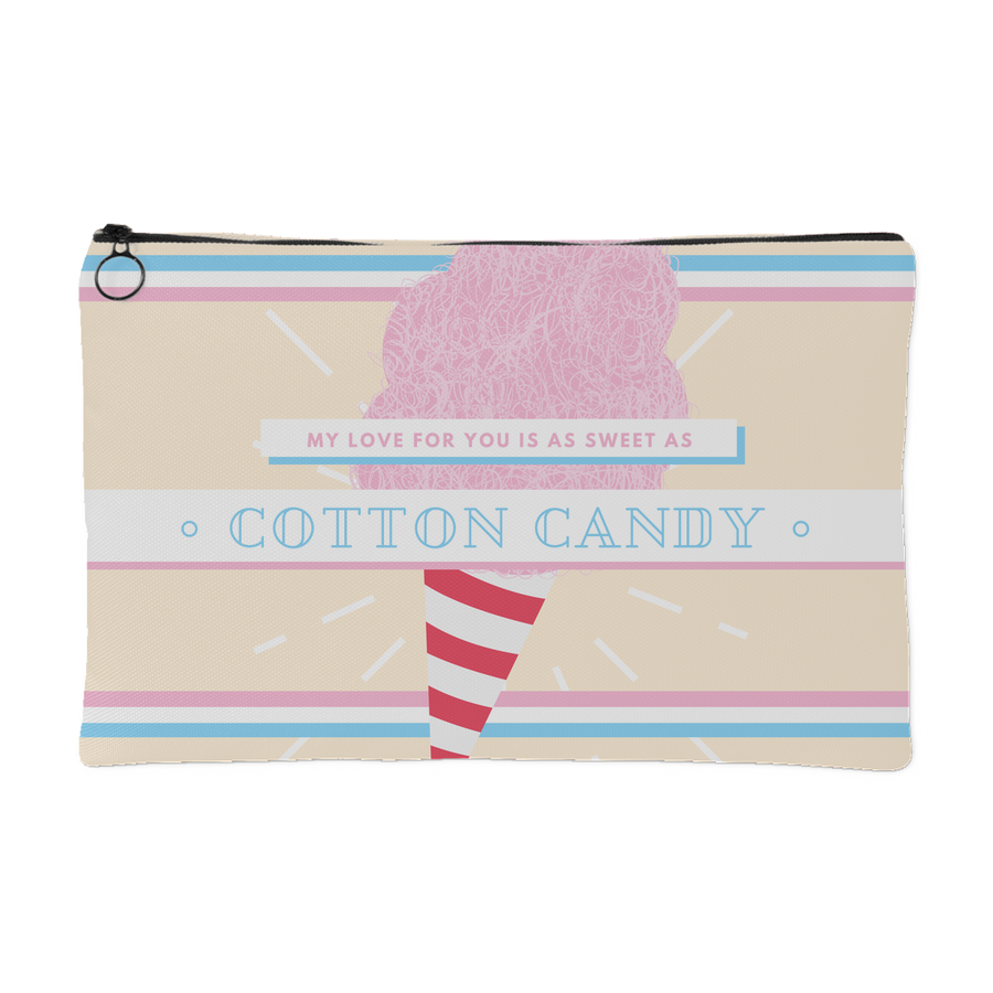 'My love for you is as sweet as cotton candy' Love Quotes Pouch