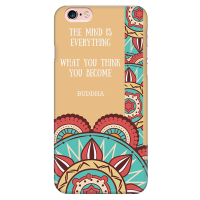 'The mind is everything; what you think, you become' Buddha Quotes Mandala iPhone Cases [5 Variants]