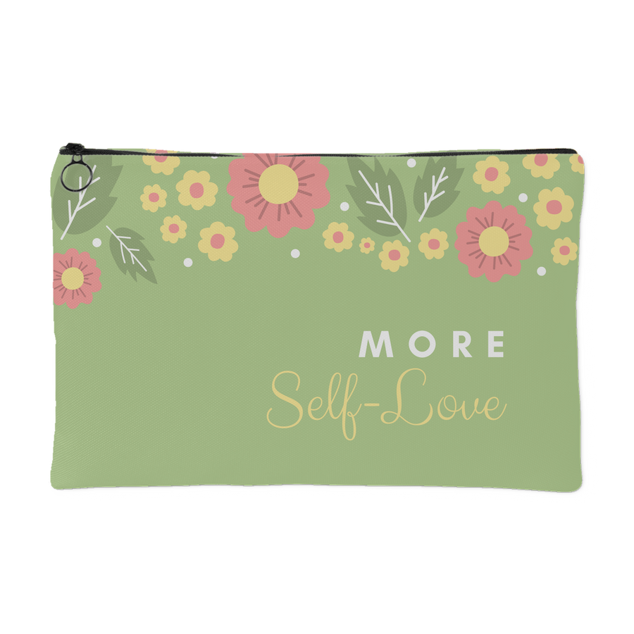 'More self-love' Love Yourself Quotes Pouch