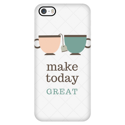 'Make today great' Good Morning Quotes iPhone Case