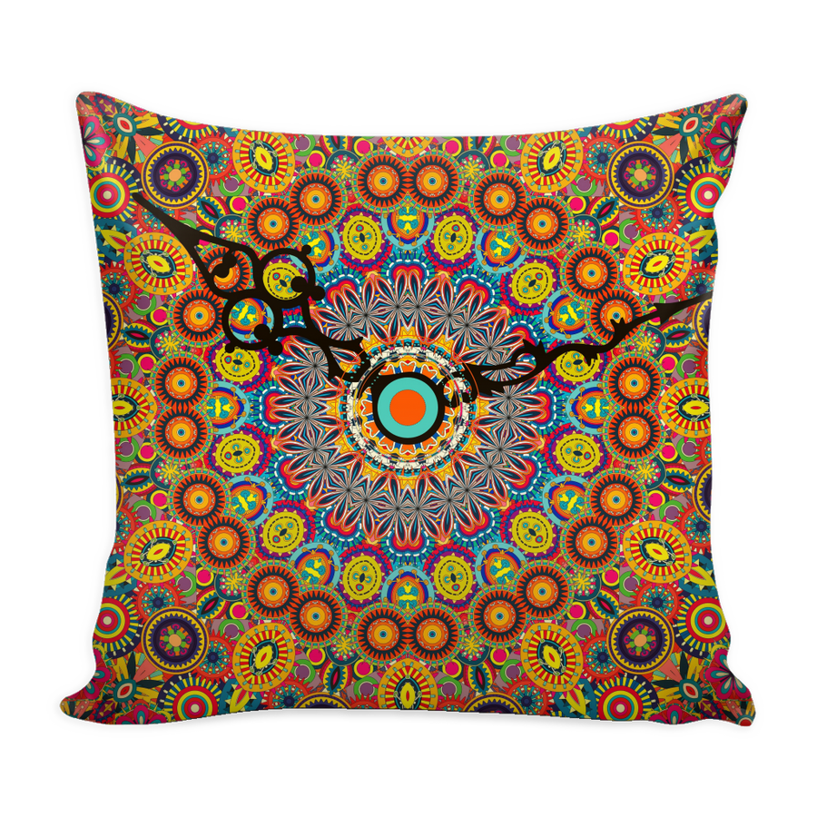 'Time' Buddhist Mandala Pillow