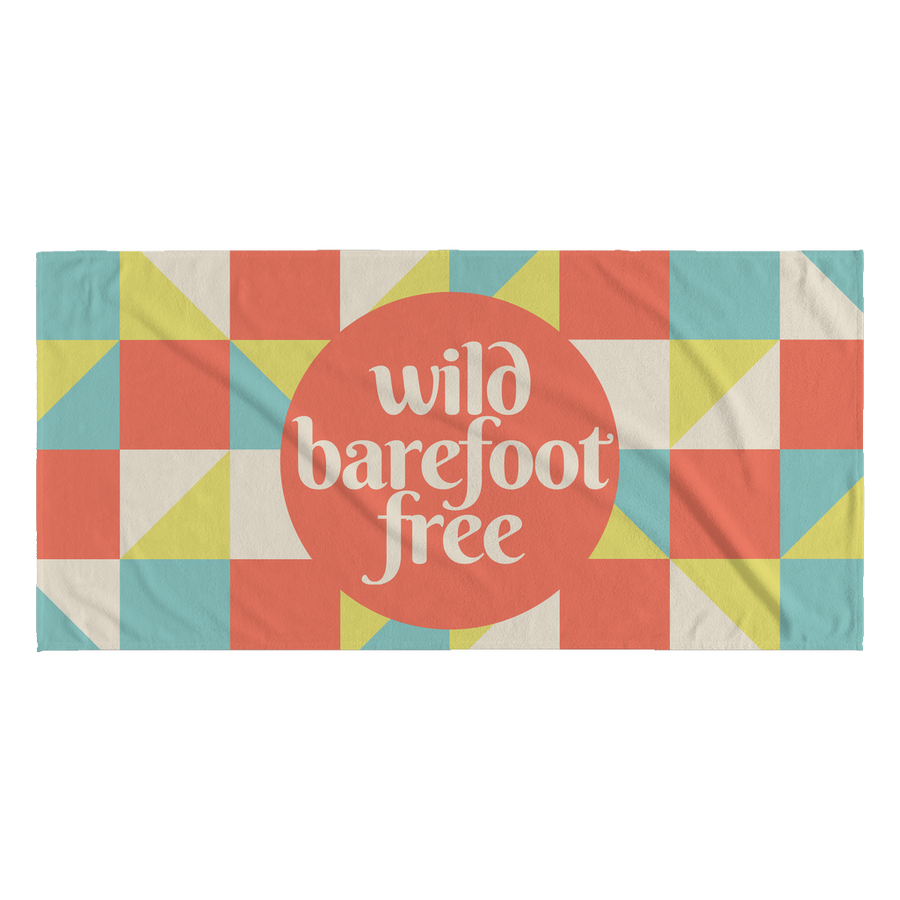 'Wild, barefoot, free' Summer Quotes Beach Towel