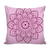 'Sacred Lotus' Pink Buddhist Mandala Pillow