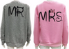 'Mr.' and 'Mrs.' Long Sleeve Couple Sweatshirt for Lovers