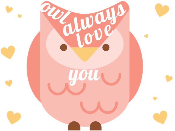 'Owl always love you' Scratchable Surprise Design Love Quotes Tumbler [7 Variants]