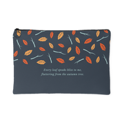 'Every leaf speaks bliss to me' Autumn Quotes Pouch