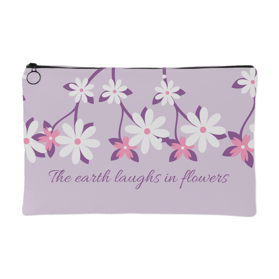 'The earth laughs in flowers' Spring Quotes Pouch [2 Variants]