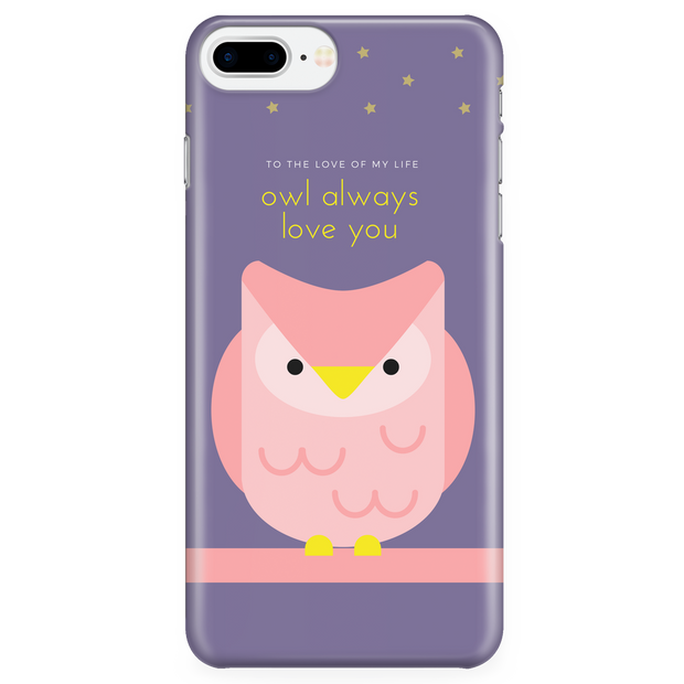 'Owl always love you' Love Quotes Violet iPhone Case