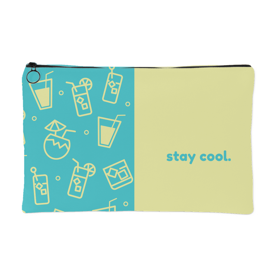 'Stay cool' Summer Quotes Pouch