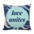 'Love unites' Love Quotes Pillow Cover with Pillow Insert