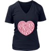 'Happy Mother's Day' Pink Heart Family Quotes District Womens V-Neck Shirt