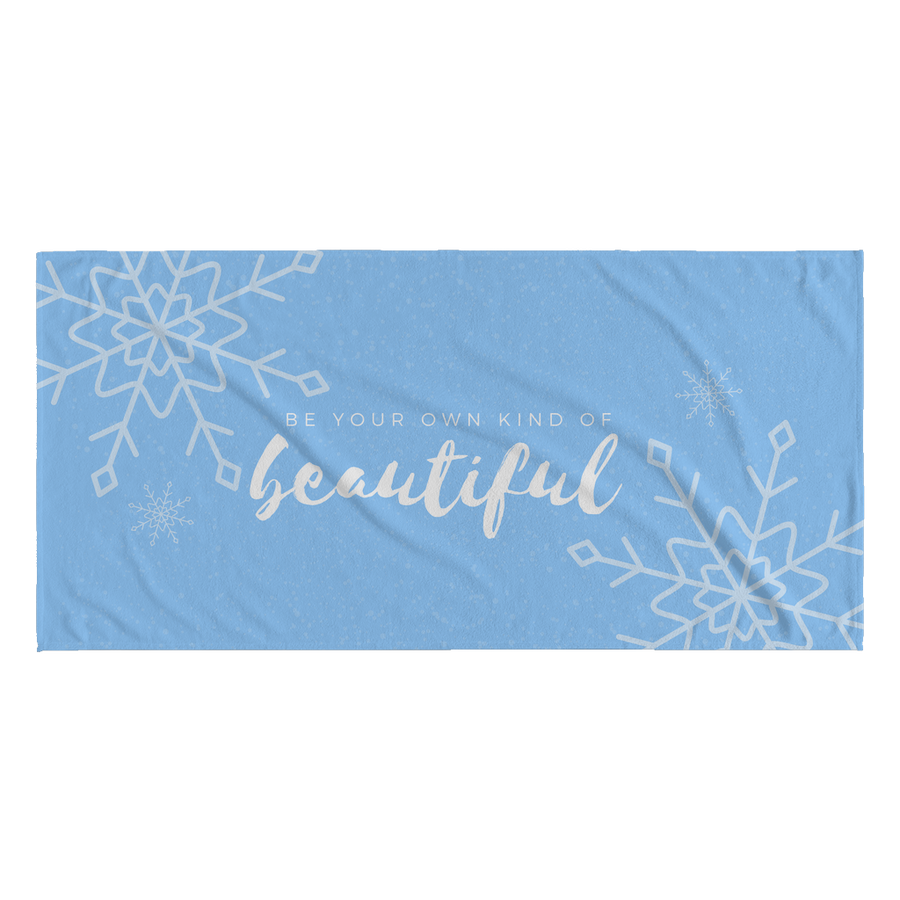 'Be your own kind of beautiful' Love Yourself Quotes Beach Towel