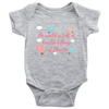 'The world is full of beautiful things like you' Good Morning Quotes Baby Onesie