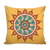 'Unity' Yellow Buddhist Mandala Pillow