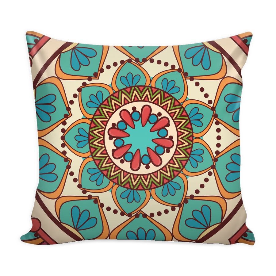 'Happiness' Buddhist Mandala Pillow