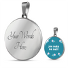 'You make me melt' Love Quotes Custom-Engrave Silver Luxury Necklace [2 Variants]