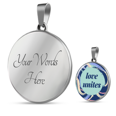 'Love unites' Love Quotes Custom-Engrave Luxury Necklace [4 Variants]