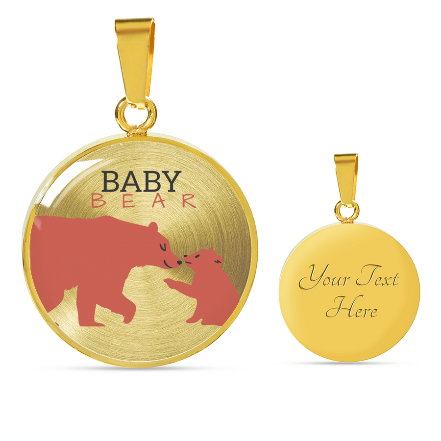 'Baby Bear' Mother Daughter Luxury Necklace