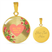 'All you need is love' Love Quotes Gold Luxury Necklace [2 Variants]