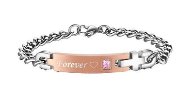 Bracelet - 'Always' And 'Forever' Couple Chain Bracelet