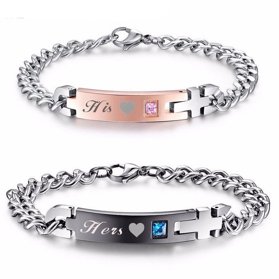 Bracelet - 'His' And 'Hers' Couple Chain Bracelets