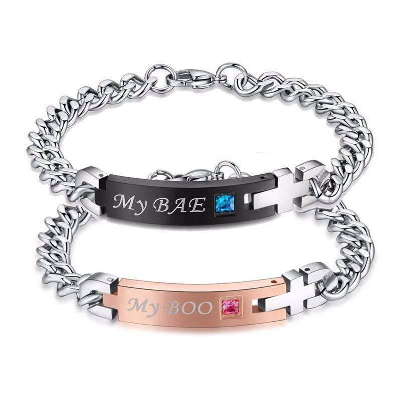 Bracelet - 'My Bae' And 'My Boo' Couple Bracelet