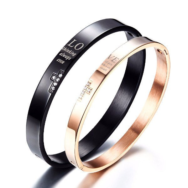 Bracelet - 'Thinking Of You' Bangle Couple Bracelet