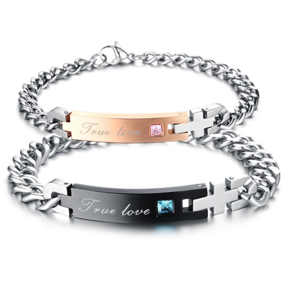 Bracelet - 'True Love' Chain Couple Bracelets