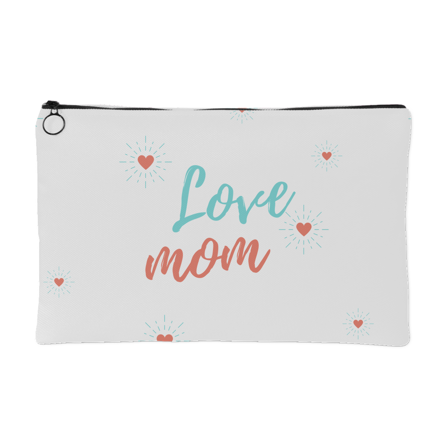 'Love Mom' Mother Daughter Quotes Pouch