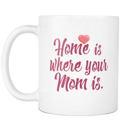 Drinkware - 'Home Is Where Your Mom Is' Mother Daughter Quotes White Mug