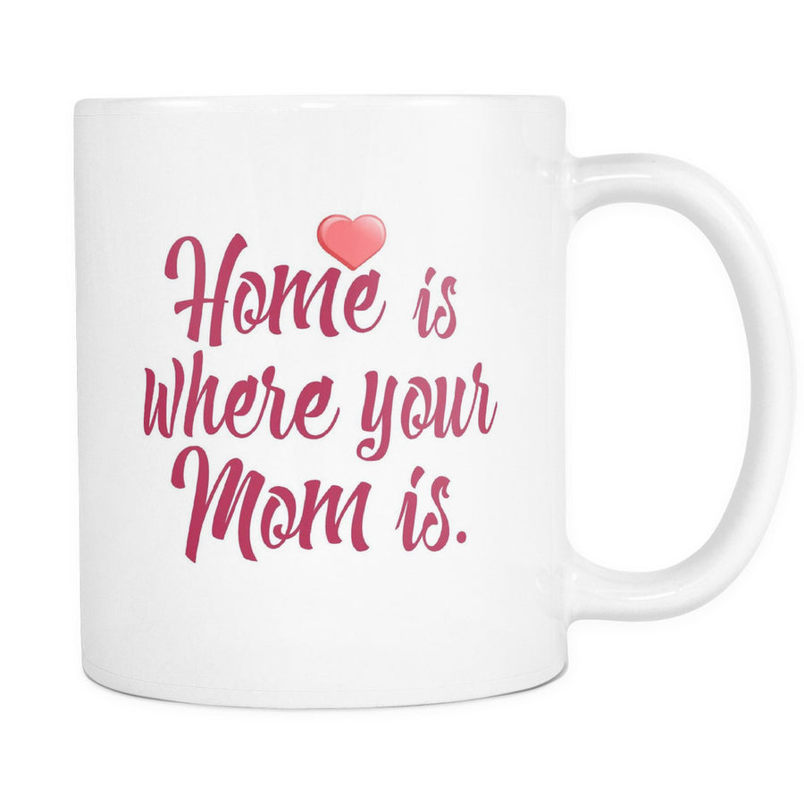 'Home is Where Your Mom Is' Mother Quotes White Mug