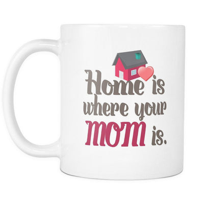 Drinkware - 'Home Is Where Your Mom Is' Mother Quotes White Mug