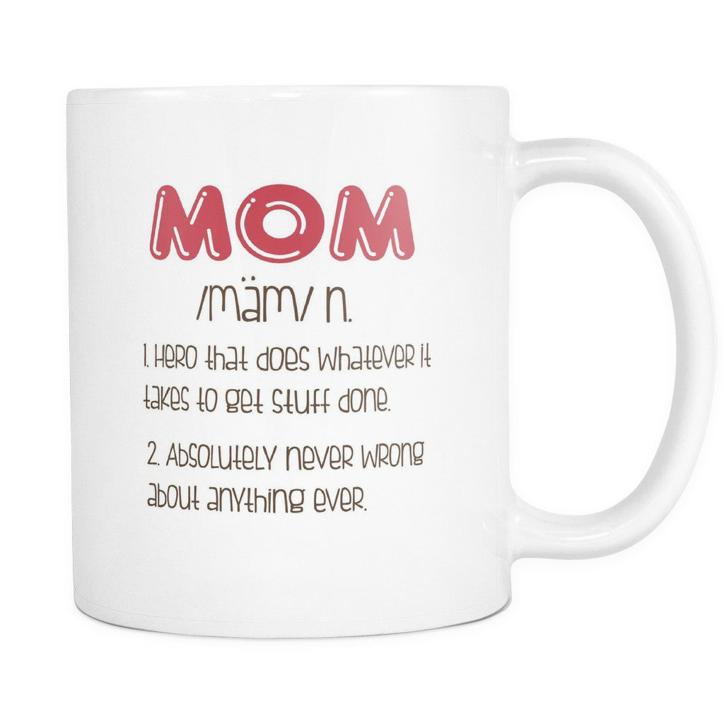 Drinkware - 'Mom Definition' Mother Daughter Quotes White Mug