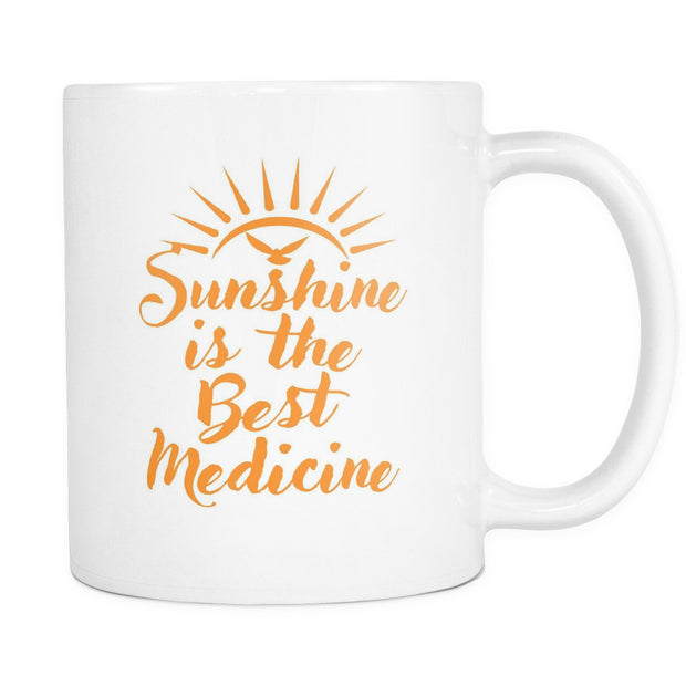 Drinkware - 'Sunshine Is The Best Medicine' Morning Quotes Mug