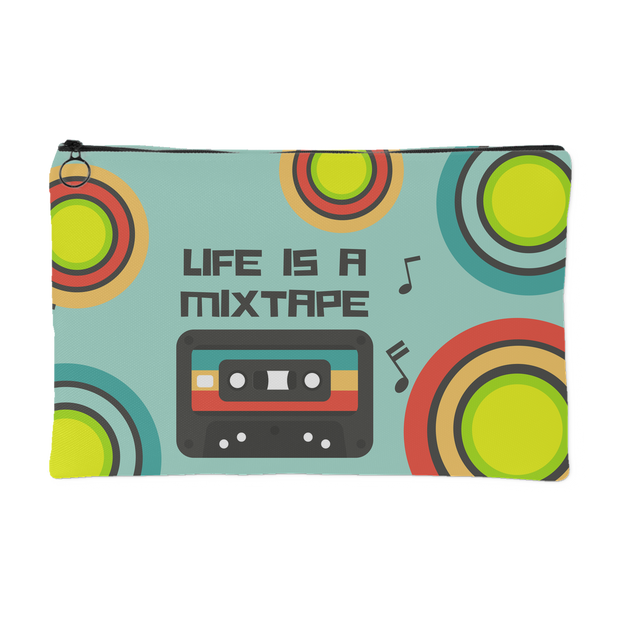 'Life is a mixtape' Life Quotes Pouch