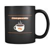 'I love you a latte' Love Quote Black Mug