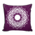 'Clarity' White Buddhism Mandala Purple Pillow