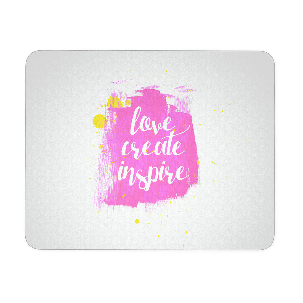 Mousepads - 'Live, Create, Inspire' Motivational Quotes Mousepad